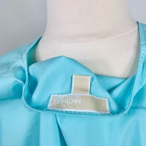 Michael Kors Tops - MICHAEL KORS Turquoise V-Neck Shirt in Large